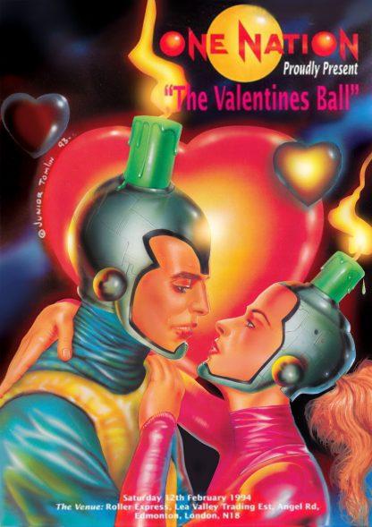 One Nation Valentines Ball flyer by Junior Tomlin